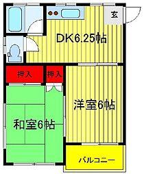 第2関東マンション[605号室]の間取り