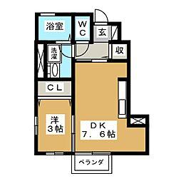 フォレスト上野山[1階]の間取り