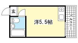 兵庫県神戸市灘区篠原台の賃貸アパートの間取り