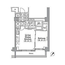 東京メトロ有楽町線 月島駅 徒歩4分の賃貸マンション 5階1LDKの間取り