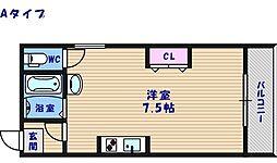 アーク住之江[1階]の間取り