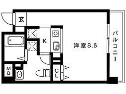 S−cute mikage[104号室]の間取り