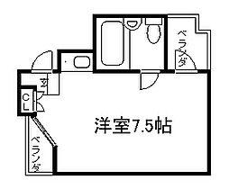 デトムワン京大前[407号室]の間取り