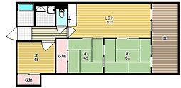 高槻センチュリーマンション[323号室]の間取り