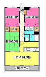 原田第二ビル[1階]の間取り