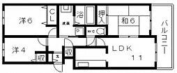 パークハイム山坂[8階]の間取り