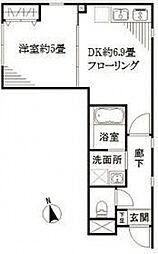 リベルタ東新宿[301号室号室]の間取り