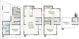 建物プラン例 A区画 建物価格1710万円、建物面積101.07平米
