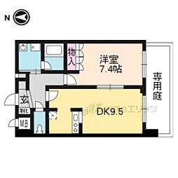 京都地下鉄東西線 東野駅 徒歩7分の賃貸マンション 3階1DKの間取り