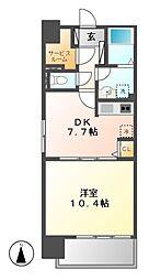 will Do 太閤通[7階]の間取り