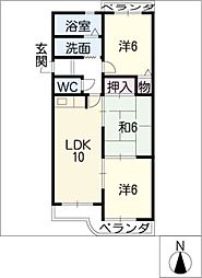 セントラル21[3階]の間取り