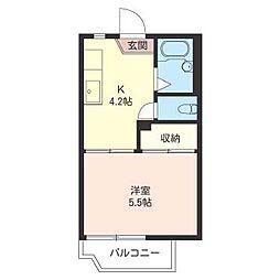 フォーブル 盛田[2階]の間取り