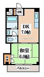 サンハイツ昭和町[3階]の間取り