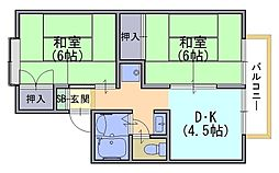 セジュール久貝[1階]の間取り