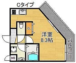 TOYOTOMI STAY PREMIUM 天王寺公園III 10階1Kの間取り
