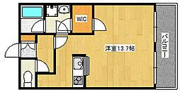 JR東海道・山陽本線 摩耶駅 徒歩7分の賃貸マンション 5階ワンルームの間取り