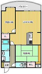 住之江フタバビル[705号室]の間取り