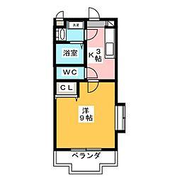 ミルフィーユII[1階]の間取り