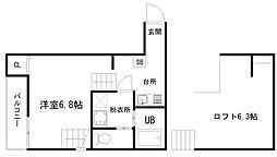 東九条石田町SKHコーポ[1階]の間取り