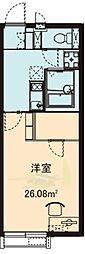 千葉県習志野市屋敷5丁目の賃貸アパートの間取り