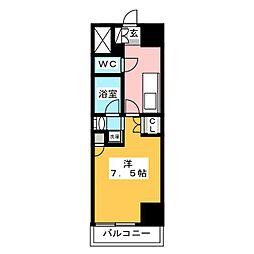 IARIM栄東 9階1Kの間取り