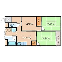 奈良県奈良市三条川西町の賃貸マンションの間取り