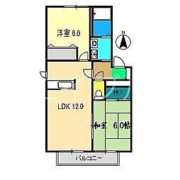 クレール林崎 B棟[2階]の間取り