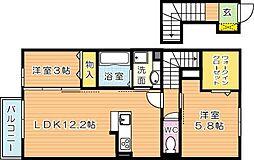 仮)D-room原町[2階]の間取り