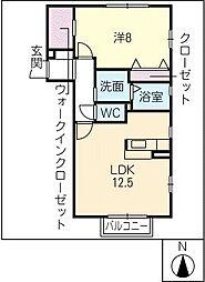 サクシードII[2階]の間取り