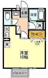 カルチェ出屋敷[2階]の間取り