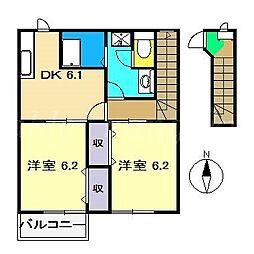 アパルタメント セレッソ[2階]の間取り