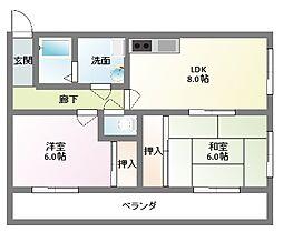富士栄町マンション[203号室]の間取り