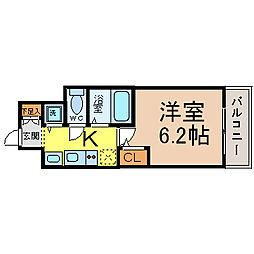 プレサンス鶴舞公園WEST[10階]の間取り