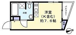 SMAT東池袋 3階ワンルームの間取り