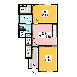 プリムローズ 2011[1階]の間取り