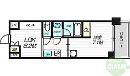 Re-be東三国 4階1LDKの間取り