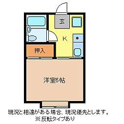 コーポ金子[2階]の間取り