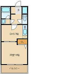 コンフォート玉串[1階]の間取り