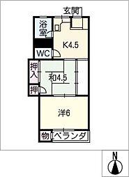 中源ビル[2階]の間取り