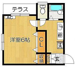 メゾン・モンテII so[1階]の間取り
