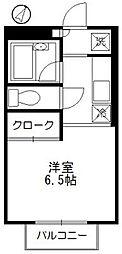 エステート湘南[203号室]の間取り