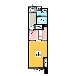 POWERHOUSE the residence 9階1DKの間取り