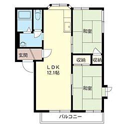 メゾン ヨシコー D[2階]の間取り