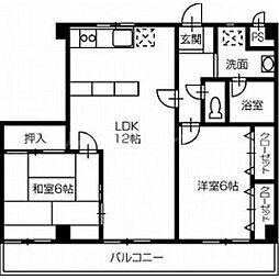 香川県高松市牟礼町牟礼の賃貸マンションの間取り