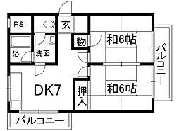 コープKIZAKI[3階]の間取り