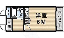 サンロード白鷺 3階ワンルームの間取り