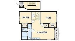 加神ガーデンハイツ2番館[203号室]の間取り