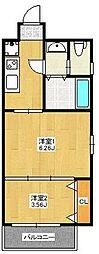 A.T.博多ステーションI[702号室]の間取り