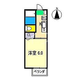 アメニティ土居 B棟[2階]の間取り