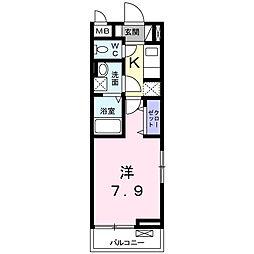 神奈川県平塚市真田4丁目の賃貸アパートの間取り